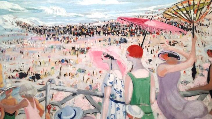 La grande plage de Biarritz Jacqueline Marval2